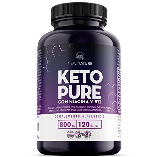 Keto Pure – Píldoras Dietéticas Keto para Hombres y Mujeres – 1 Mes de Suministro, Con Niacina, Té Verde y Cayena – Hecho en UK – 120 Tabletas – Adecuadas para Vegetarianos y Veganos
