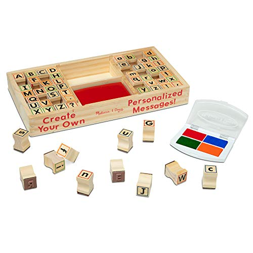 Melissa & Doug Alphabet Stamp Set (Stamps with Lower-Case and Capital Letters, 4 Colors, 56-Stamps, Great Gift for Girls and Boys - Best for 4, 5, 6 Year Olds and Up)