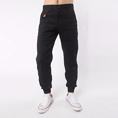 Skinny Negro Slim Jeans De Hippie Con Deportivos Hombres Vaqueros Pantalones Fit Bolsillos Pantalones Harem Manadlian wx6xB7SFq