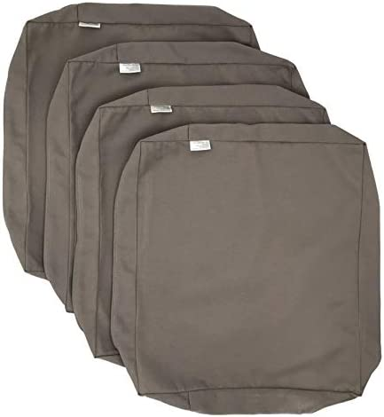 CozyLounge Timeless Taupe Outdoor Water Repellent Patio Chair Cushion Seat Pillow Covers 22 x20 x4 4 Covers