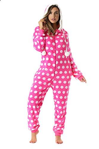 6342-10189-S Just Love Adult Onesie / PajamasSmallFuchsia - -