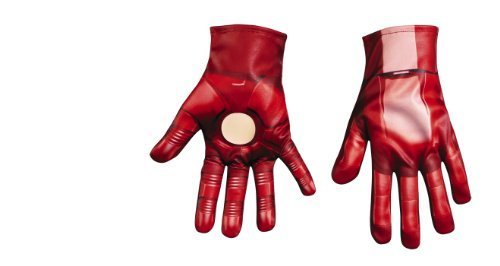 Iron Man 3 Patriot Classic Gloves, Child (Iron Man Glow Arc Reactor)