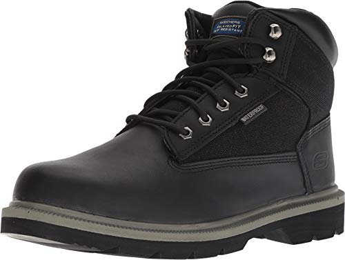 Skechers Work Relaxed Fit Makanix Mennot ST Steel Toe Mens Boots Black 10 (Boot Relaxed Skechers)