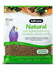 ZuPreem Natural Bird Food Smart Pellets for Small Birds - Made in USA, Essential Vitamins, Minerals, Amino Acids for Parakeets, Budgies, Parrotlets