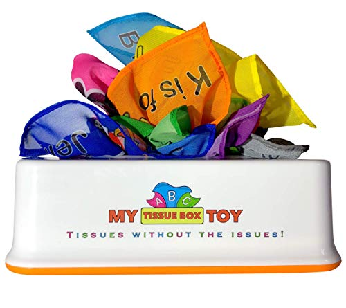 My Tissue Box Toy - ABC Set - 26 Chiffon Tissues - Learn Entire Alphabet & 13 Grows with Child from Infant to Preschooler
