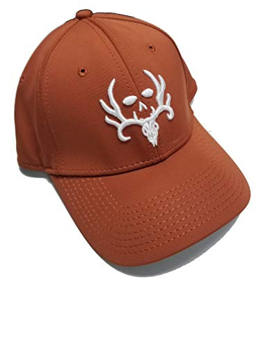 Bone Collector Flexfit Fitted Orange Skull Hunting Hat Cap