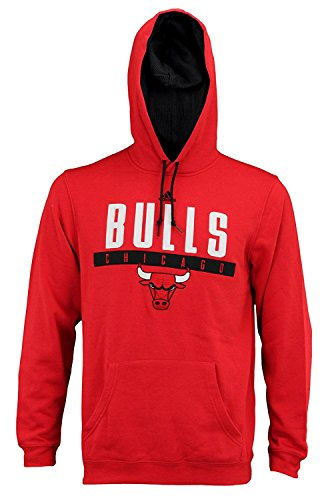 Mens Adidas NBA Tipoff Playbook Pullover Hoodie, Chicago Bulls, Red