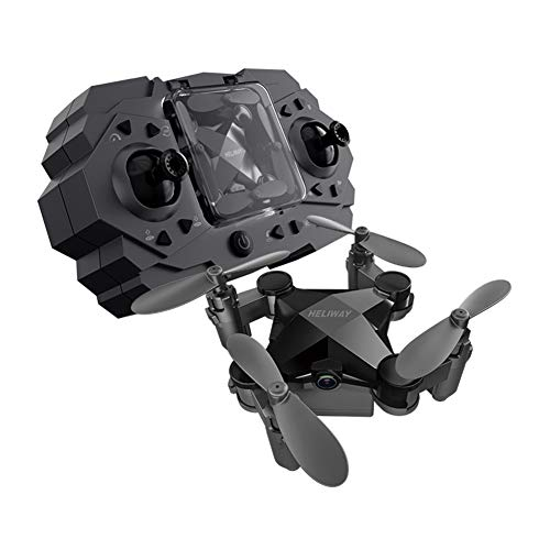 PinShang Mini Drone Folding Four Axis Aerial Photography Aircraft Toy Black - Fixed Height + WiFi Real-time Image Transmission