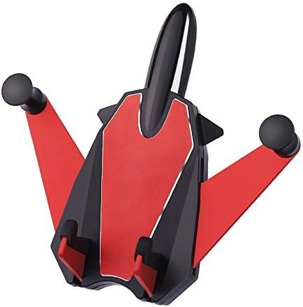 車載ホルダー 車 電話ホルダー ユニバーサル エアベントマウント ブラケット ホルダー 運転アクセサリー 空気出口ナビゲーションブラケット L.P.L (Color : レッド, Size : フリー)