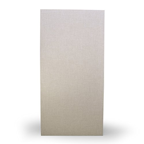 Acoustical Sound Absorbing Wall Panels, Formaldehyde Free, 1'' x 24'' x 48'', 6# density Lot of 4, Beige by BRB Products