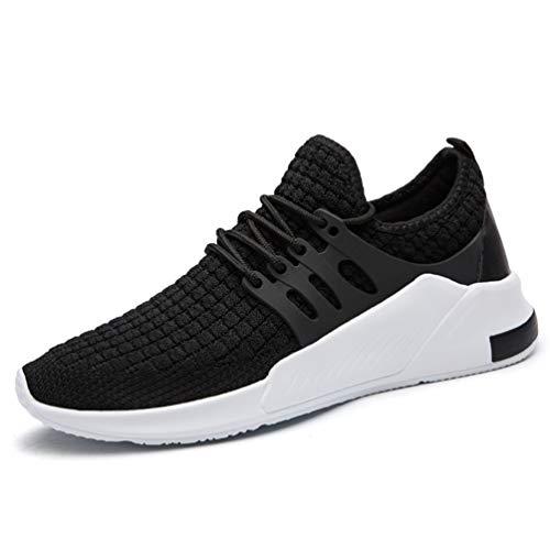 zhenghewyh Uomo Sneakers Sport Running Fitness Scarpe Traspirante 1-nero