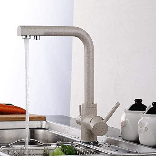 SYF-SYF 純水キッチン蛇口スクラブレンチ蛇口美しく、耐久性のあるベージュクリエイティブファッション流域ミキサースリー 蛇口