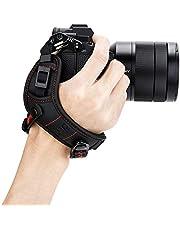 JJC Deluxe Mirrorless Camera Hand Grip Strap for Canon EOS R5 R6 R RP M50 M6 Mark II Nikon Z7 Z7II Z6 Z6II Z5 Z50 Z fc Zfc Fuji Fujifilm X-T4 X-T3 X-T2 X-S10 X-T30 X-T20 X-E4 X-E3 X-PRO3 & More