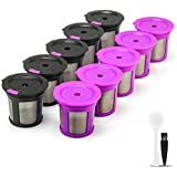 10 Pack i Cafilas Refillable K Capsules Replacement for 2.0 Series K Pods Keurig brewers,Reusable K Capsules Coffee Filters Pods (Black)