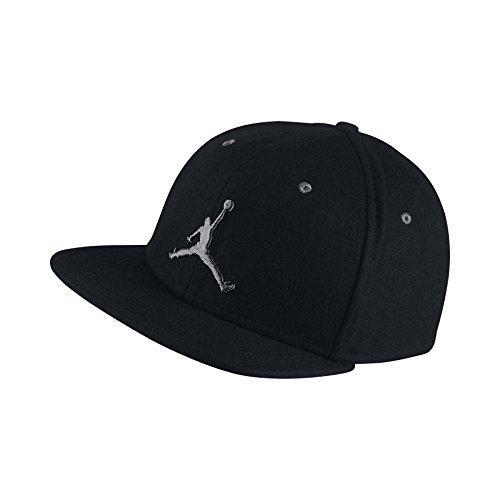 Nike Mens Air Jordan Retro 12 Strapback Adjustable Wool Hat Black/Dark Grey (Jordan Mens Hat)