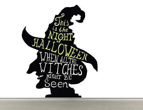 Halloween Night Candy Costumes - Halloween Time - Wall Decal Nursery For Home Bedroom Children (Wide 22