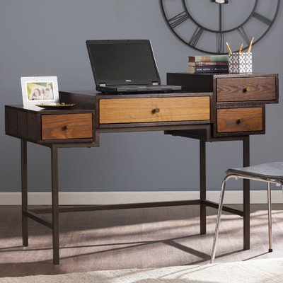 Oleary Computer Desk with 4 Drawers - Dark Antique Bronze