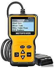 MOTOPOWER Leitor de código de falha do motor MP69033 OBD2, leitor de código de falha do motor, ferramenta de digitalização de diagnóstico para todos os carros de protocolo OBD II desde 1996