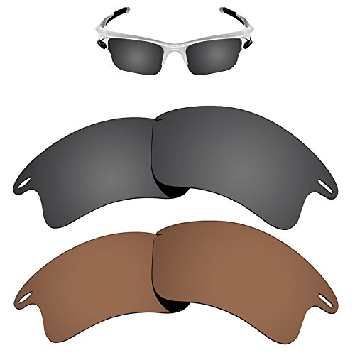 Kygear Replacement Lenses Different Colors for Oakley Fast Jacket XL Sunglass Polarized Pack of 2 by Kygear