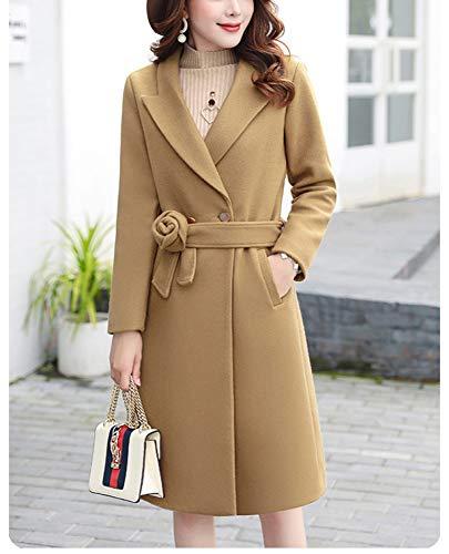 Long Deux Manteau Automne FemmeHiver Femme Jaune D'automne Coton Laine Chaud Pour Ab Plus Pièces vent Et En CotonCoupe Jupe D'hiverVeste NOP0Zn8Xwk