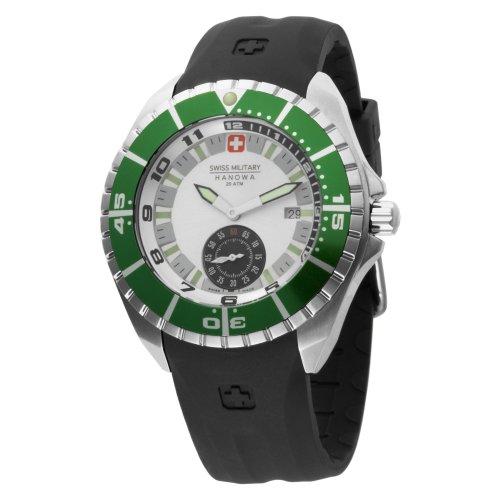 Swiss Military Hanowa Men s 06-4095-04-001-06 Sealander White Dial Rubber Strap Watch