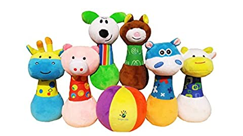 PinPals Developmental Bowling Game Set for One Year Old Boys and Girls by Broyani Kids (1st Birthday Girl Pin)