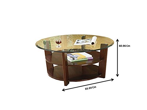 3 Pc. Set Solid Wood Coffee Table with 2 End Tables 8mm Beveled Glass Top with Two Shelves in Espresso Finish