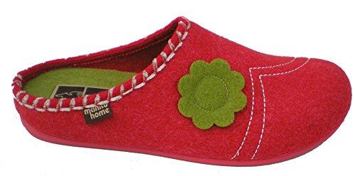 Manitu 320477-4 mujer zapatillas Rot