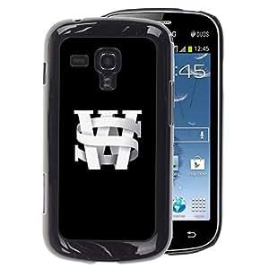 A-type Arte & diseño plástico duro Fundas Cover Cubre Hard Case Cover para Samsung Galaxy S Duos S7562 (S W Initials Black University Black Text)
