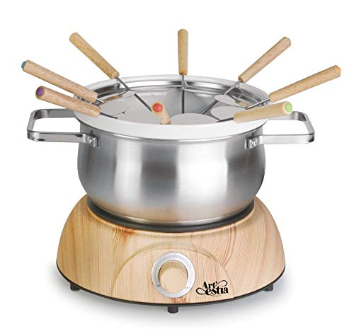 Artestia Electric Chocolate & Cheese Fondue Set with Two Pots