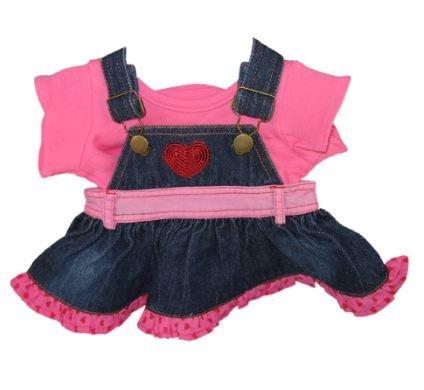 Amazoncom Build Your Bears Wardrobe 15 Inch Denim Heart Dress With