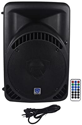 "(2) Rockville RPG15BT 15"" 2000w Powered BlueTooth/USB DJ Speakers+Stands+Cables from Rockville"