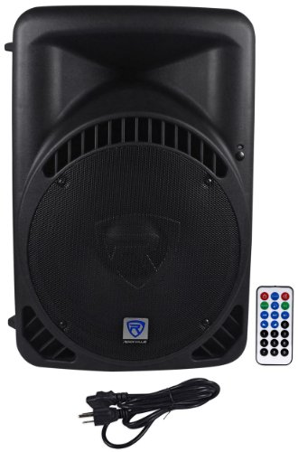 "Rockville RPG15BT 15"" Powered 1000W DJ PA Speaker BlueTooth,"