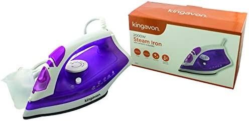Kingavon SSI2 2000W Steam Iron with Ceramic Soleplate, 2000 W, Purple