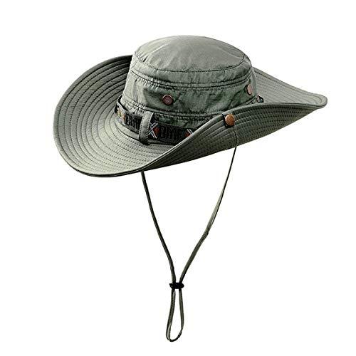 Fonshow Jungle Camo Boonie Sun Hat Snap Wide Brim Caps Outdoor Fishing Hunting Safari Cap (11) - Hat Jungle Boonie