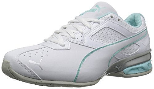 PUMA Women's Tazon 6 Wn Sneaker, White-Island Paradise Silver, 6 M - Island Fashion
