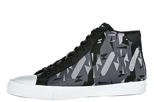 Emporio Armani EA7 Men s Shoes High Top Trainers Sneakers Pride Jacquard  Black UK Size 9 248047 8P299 56920  Amazon.co.uk  Shoes   Bags cd678be5b9e