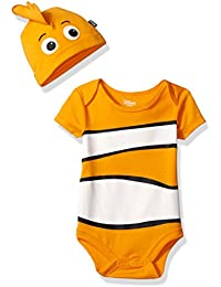 Disney Boys' Finding Nemo Bodysuit with Cap Set
