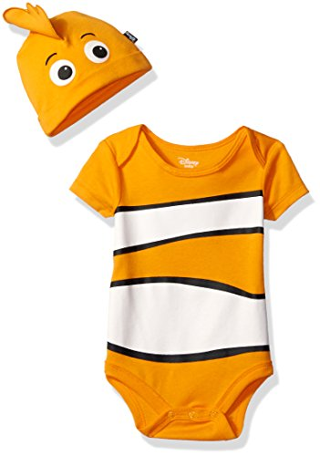 Disney Baby Boys' Finding Nemo Bodysuit with Cap Set, Orange, 6/9M