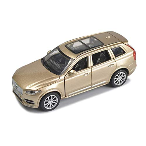 XINGXIANYIGOU Automotive Die-Casting Ornament, Made of Alloy 1:32 Ratio Volv10o XC90 Model, The Door Can be Opened (Color : Gold, Size : 1565.5CM)