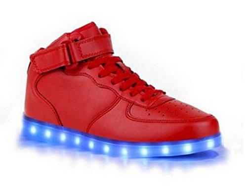 (Present:kleines Handtuch)Rote EU 41, für Leuchtend JUNGLEST® Herren Sneaker aufladen Wechseln Schuhe Damen und Mode mode USB Outdoorschuhe Sportschuhe Farbe 7 LED-Licht F