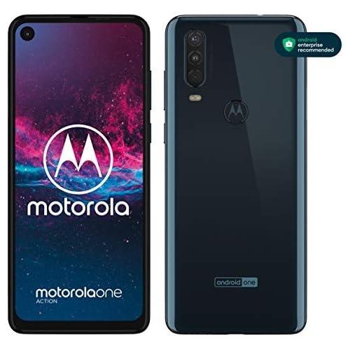 chollos oferta descuentos barato Motorola One Action Smartphone Dual SIM Triple cámara 12 MP 5 MP y video de 16 MP con ultra gran angular 128 GB 4 GB Pantalla 6 3 FHD Android 9 0 Color Azul Denim Versión Española