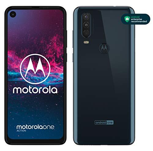 Motorola One Action Dual-SIM XT2013 128GB (GSM Only, No CDMA) Factory Unlocked 4G/LTE Smartphone - International Version (Denim Blue)