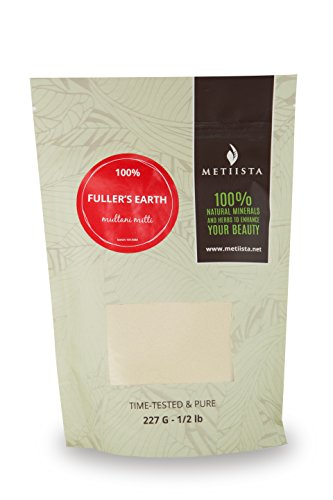 100% pure Fuller's Earth Clay (Multani Mitti) (1/2LB)-NEW RESEALABLE PACKAGING!