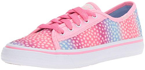 Sugar Pink Footwear (Keds Double up Sneaker, Pink/Multi Dot Sugar Dip, 2.5 M US Little Kid)