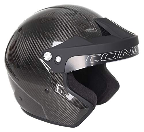 Conquer Carbon Fiber Snell SA2015 Approved Open Face Racing Helmet ()