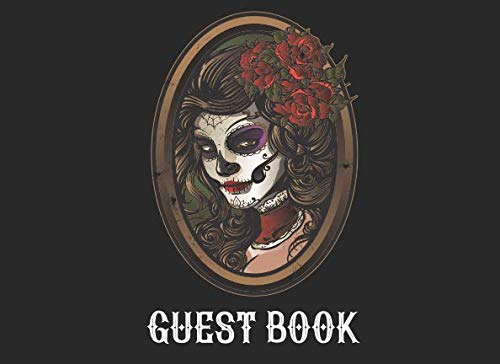 Guest Book: Sugarskull Girl Guest Book for Halloween