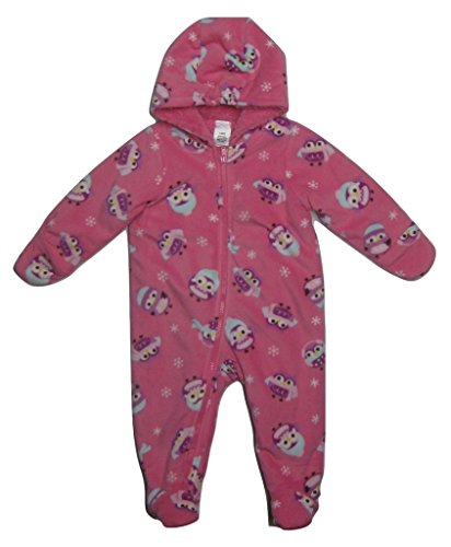 Cuddle Bunting - Cuddle Bear Baby You're A Hoot! Owl Hooded Bunting, Pink, 6 Months