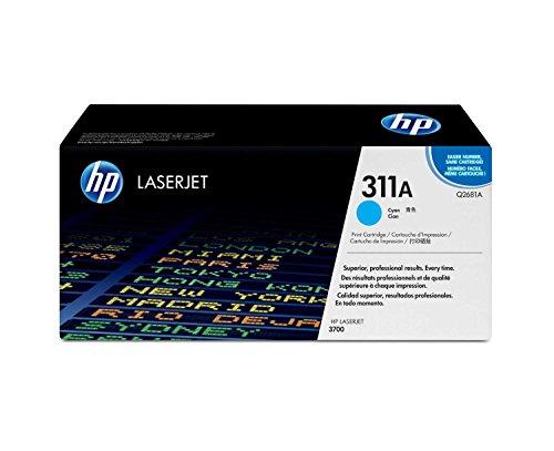 HP 3700 (Q2681A) Cyan Original LaserJet Cartridge (Yellow Cartridge 3700 Print)