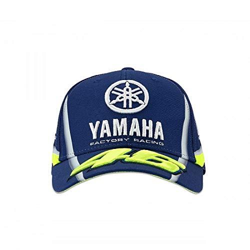 Casquette Casquette Casquette Casquette Visi/ère Yamaha VR46 Valentino Rossi Original officiel MotoGP YZR M1 Diapason Logo Jaune Bleu Collection Factory Racing